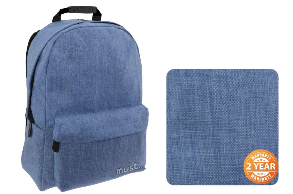 Ύφασμα Jean σχολικής τσάντας πλάτης Monochrome Jean