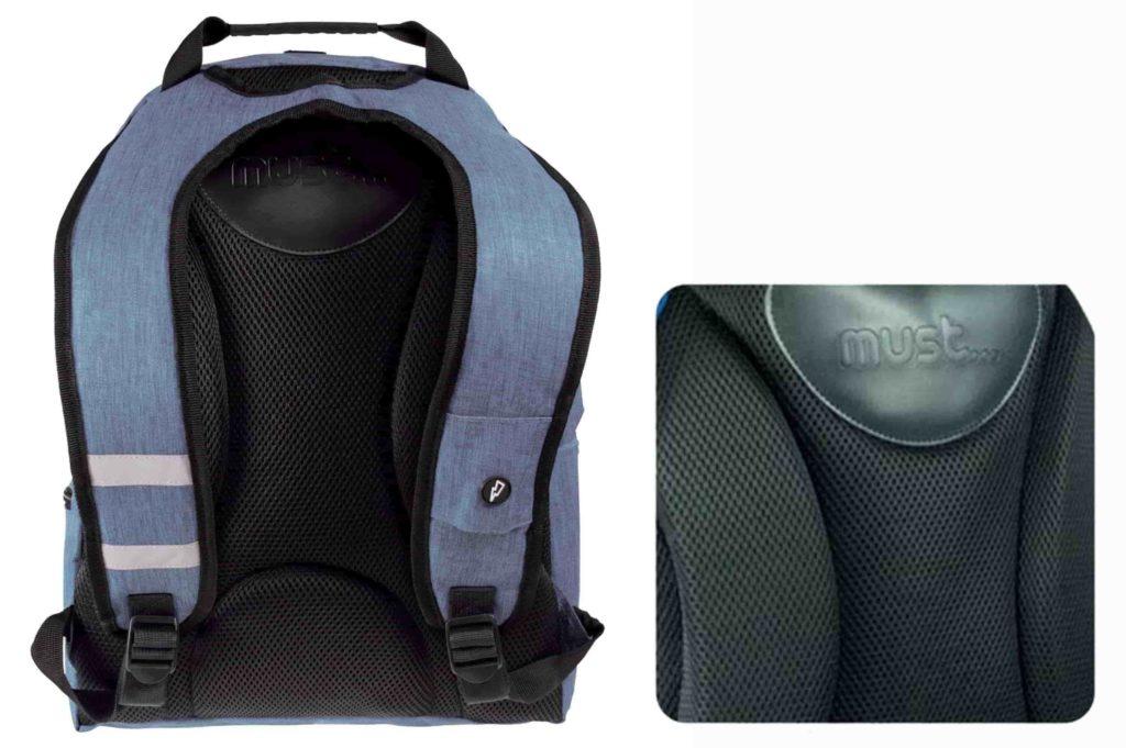 Πίσω μέρος της σχολικής τσάντας πλάτης Monochrome Jean