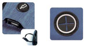 USB θύρα με καλώδιο και Δίοδος ακουστικών