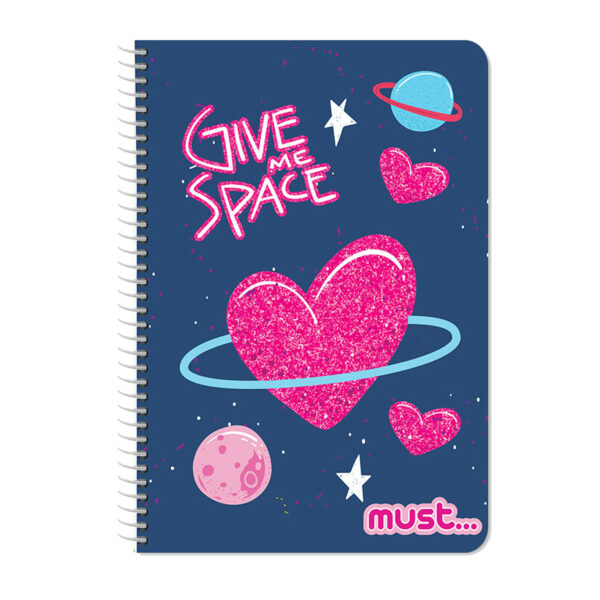 SPIRAL NOTEBOOK MUST CUTE B5 2 SUBJECTS